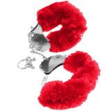 Наручники металл с красным мехом Original Furry Cuffs