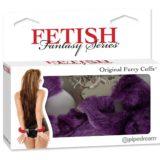Наручники металл с фиолетовым мехом Original Furry Cuffs