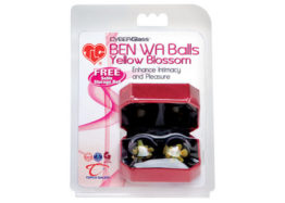 Вагинальные шарики без сцепки TLC CyberGlass Ben Wa Balls, Yellow Blossom, стекло, подарочная упак.