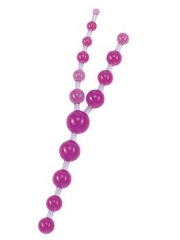 Шарики анальные TRIPLE тройные фиолетовые