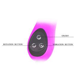 INTIMATE вибромассажер -ротатор с клиторальным стимулятором водонепронецаемый