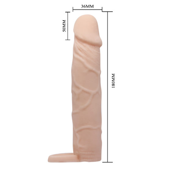 PrettyLove Penis sleeve 7 закрытая насадка реалистик на фаллос,удлинитель + 5см сочи адлер